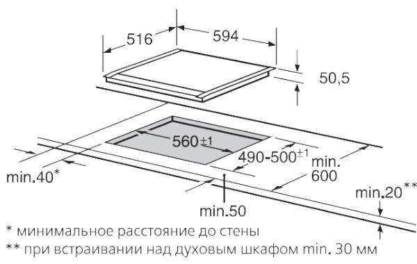 Панель стеклокерамическая